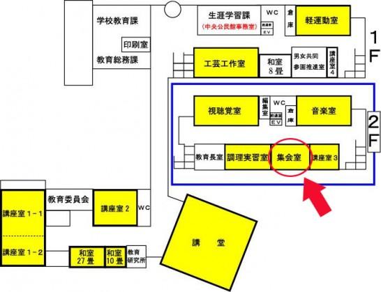 田川市民会館(建物図)