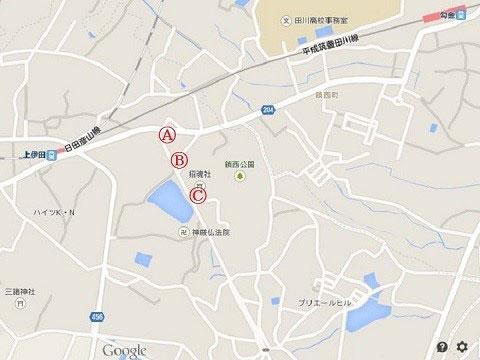 上伊田駅地図