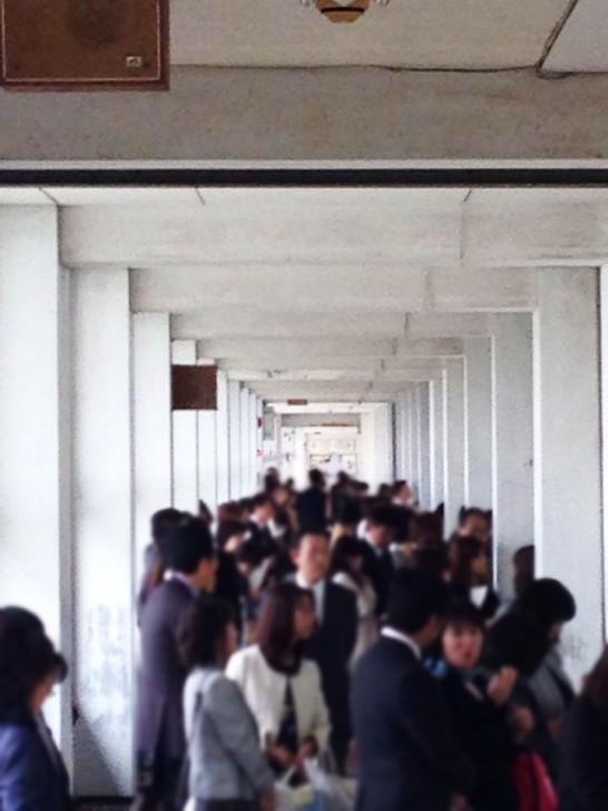 田川高校の廊下