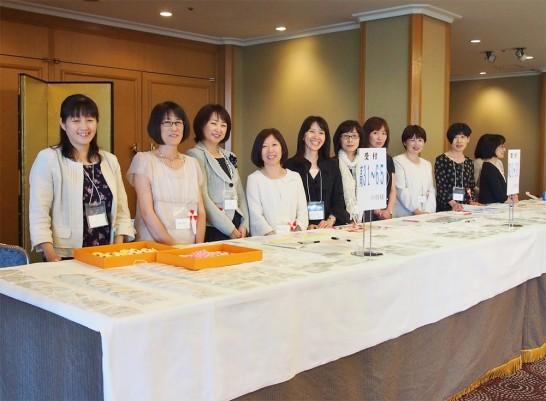 2013年91回東京岳陽会総会受付の様子