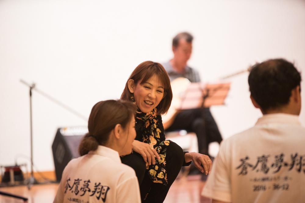 田川高校岳陽同窓会進路講演会リハーサルと準備-4