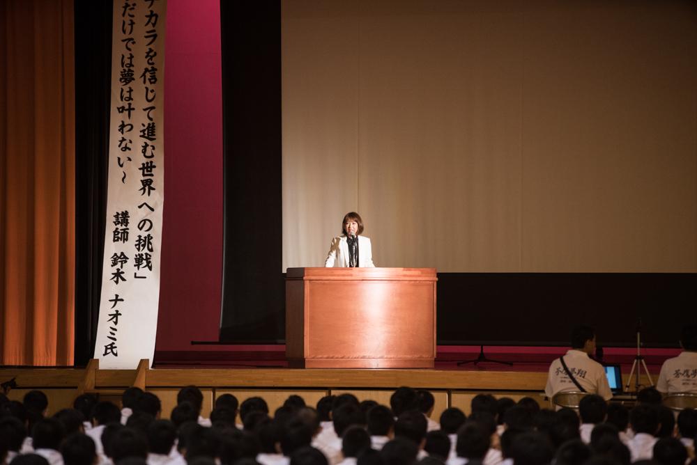 田川高校岳陽同窓会進路講演会-9