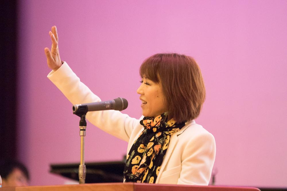 田川高校岳陽同窓会進路講演会リハーサルと準備-3